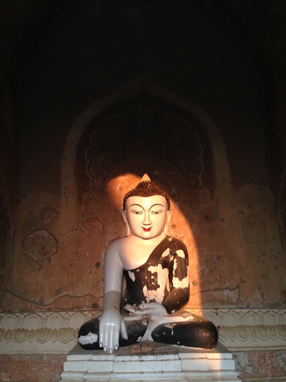 Buddha in Bagan. During the kingdom's height between the 11th and 13th centuries, over 10,000 Buddhist temples, pagodas and monasteries were constructed - over 2200 remain today.