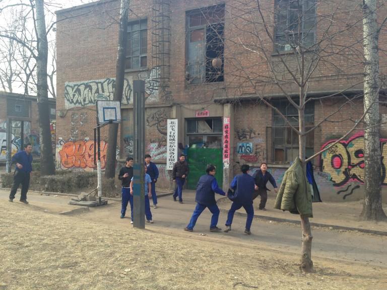 Hoops of China: Pick-up game at 798.