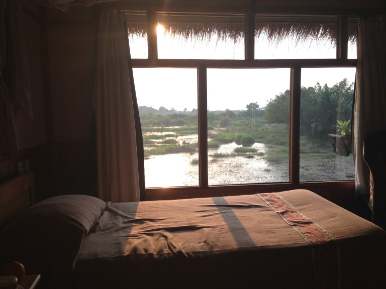 Room with a view at Inle Lake, where most everything is built above water.