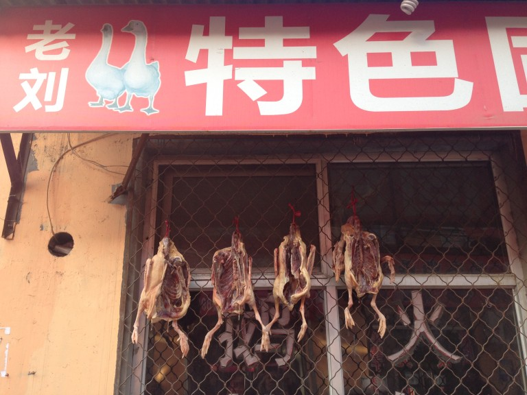 Bei Gao village poultry shoppe.