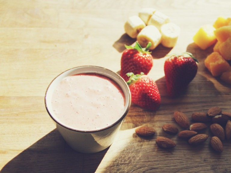 Seeing red: Strawberry Almond Banana