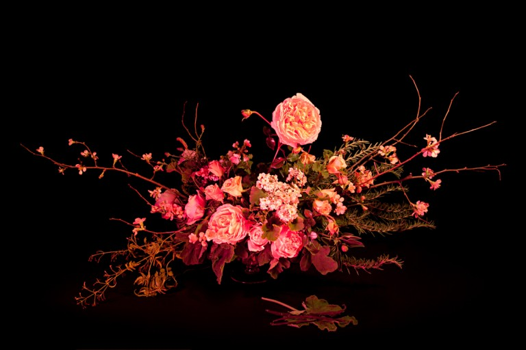 <em>For a Woman to Attract a Man She Desires</em>, 2013 apple blossoms, geranium, jasmine, rose, rosemary,vanilla pods, vervain Archival Pigment Print, 28